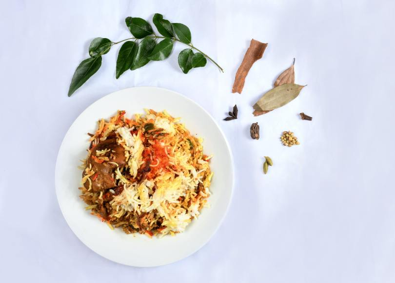 rice , chicken , rice dish Indian food