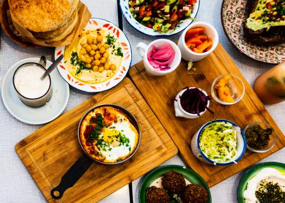 Hot And Cold Middle Eastern Appetizers